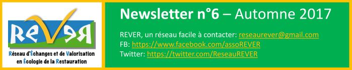 Newsletter n°6 – Automne 2017